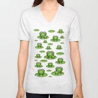 Froggies!  Unisex V-Neck