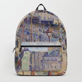 """Camille Pissarro """"The Place du Havre, Paris"""" Backpack"""