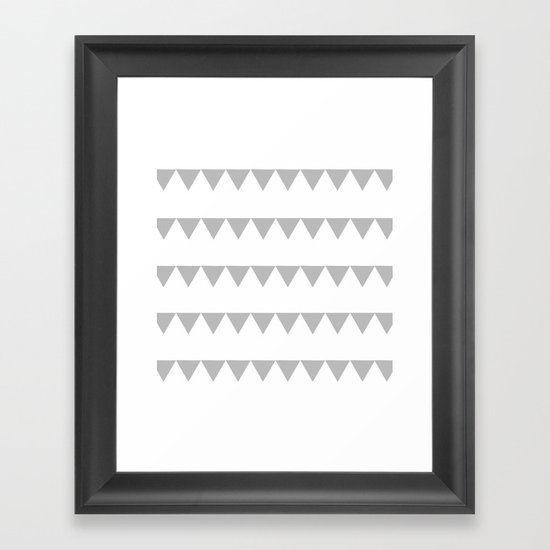 TRIANGLE BANNERS (Gray) Framed Art Print