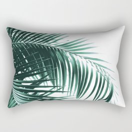 Palm Leaves Green Vibes #8 #tropical #decor #art #society6 Rectangular Pillow
