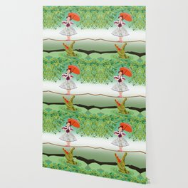 The Umbella girl With crocodile Wallpaper