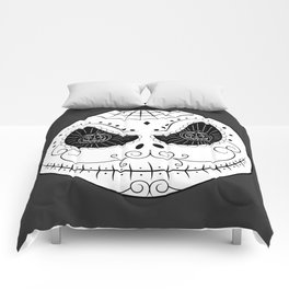 Jack's Skull Sugar (Vector Mexican Skull) Comforters