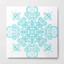 Snow flowers. Metal Print