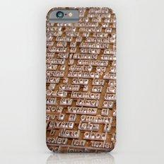 Letterpress #1 Slim Case iPhone 6s