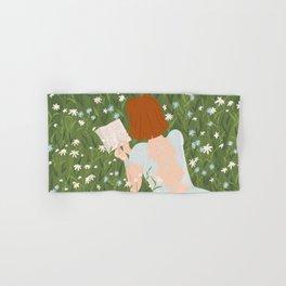 Reading in a Meadow  Hand & Bath Towel