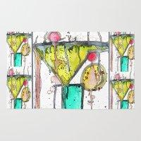 martini Area & Throw Rugs featuring Dirty Martini by Ingrid Padilla
