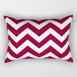 Oxblood - purple color -  Zigzag Chevron Pattern Rectangular Pillow