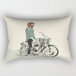 The Woman Rider Rectangular Pillow