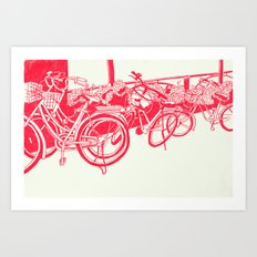 On Paper: Tokyo Bicycles Art Print