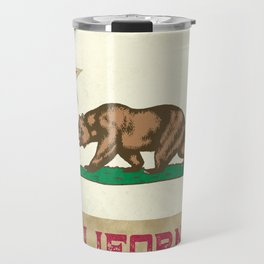 Vintage California Flag Travel Mug
