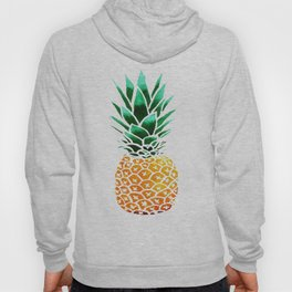 Pineapple Drawing Watercolor painting Hoody