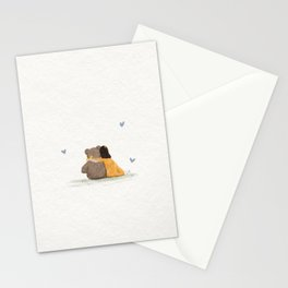 Yellow love bear Stationery Cards