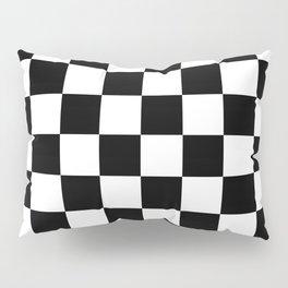 Black & White Checker Checkerboard Checkers Pillow Sham