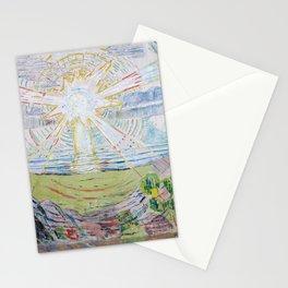 Edvard Munch - The Sun Stationery Cards