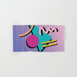 Memphis Pattern 10 - 90s - Retro Hand & Bath Towel