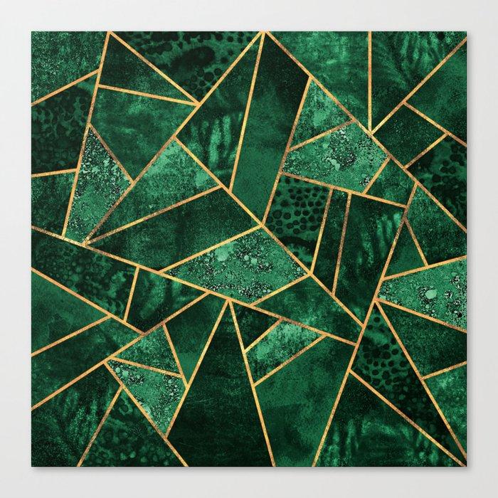 Deep Emerald Leinwanddruck