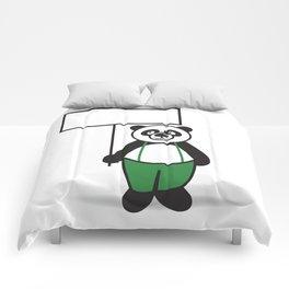 Panda Sign Comforters