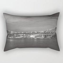 New York City Nights Across the River Rectangular Pillow