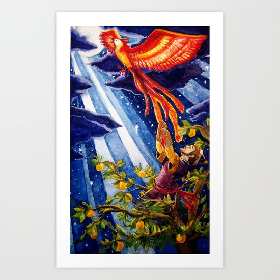 Ivan Tsarevich and the Phoenix Art Print