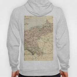 Old Map of Germany Hoody