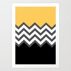 Color Blocked Chevron 6 Art Print