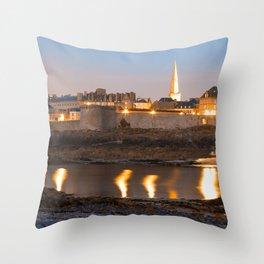 Saint Malo Twilight Throw Pillow