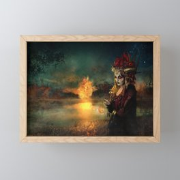 Setting the world on fire Framed Mini Art Print