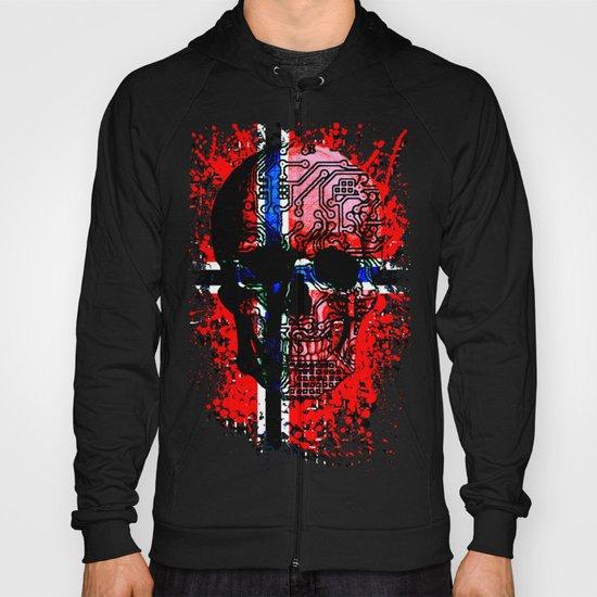 Skull circuit (norway-flag) Hoody