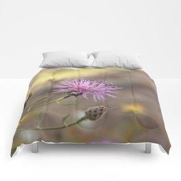 Purple Flowers Vintage on the Beach Comforters