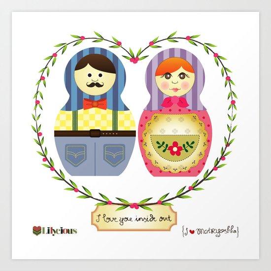 I {❤} Matryoshka Art Print