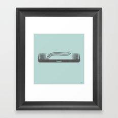 Comb Over Framed Art Print