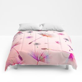 Festive Colorful Dandelions Design Comforters