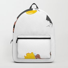 My Heart Beats For Beer I Love Beer White Backpack