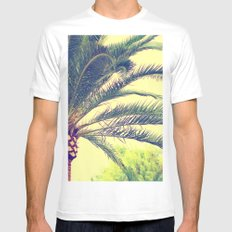 Summer feeling, palm trees in the south White MEDIUM Mens Fitted Tee