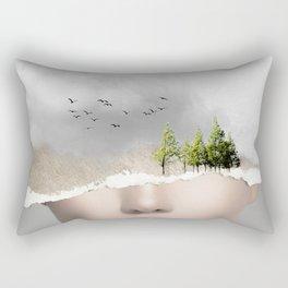 minimal collage /silence2 Rectangular Pillow