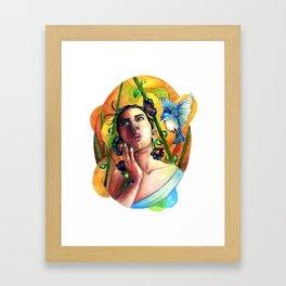 Bird whisperer Framed Art Print
