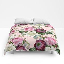 Floral enchant - blush Comforters