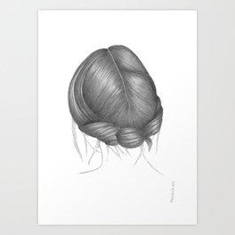 UPDO II - pencil illustration Art Print