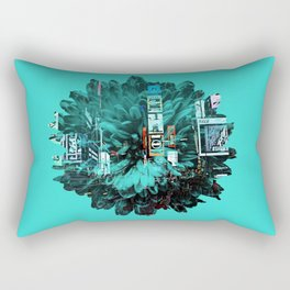 times square flower Rectangular Pillow