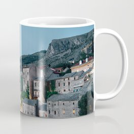 Night of Mostar old town Coffee Mug
