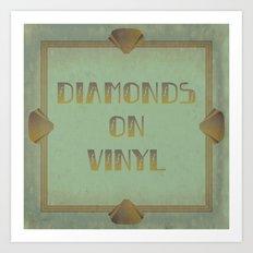 Diamonds on Vinyl Art Print