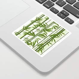 Green bamboo tree shoots pattern Sticker