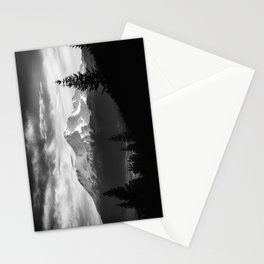 Mount Shasta Morning in Black and White Stationery Cards
