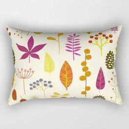 Fall Autumn Nature Forest Bits Rectangular Pillow