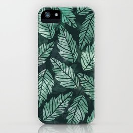 Colorful leaves IV iPhone Case