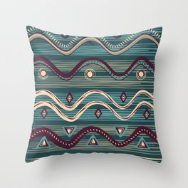 Swamp tribe Throw Pillow