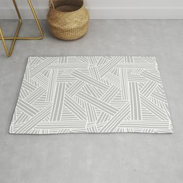 Sketchy Abstract (White & Gray Pattern) Rug