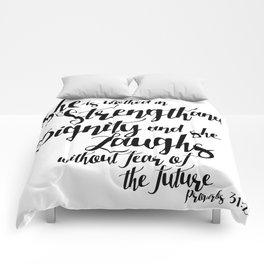 She is ... Comforters