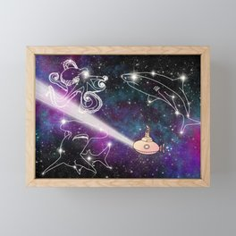 Exploring The Star Fish Constellations Framed Mini Art Print