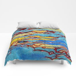 Asian style clouds with heart Comforters